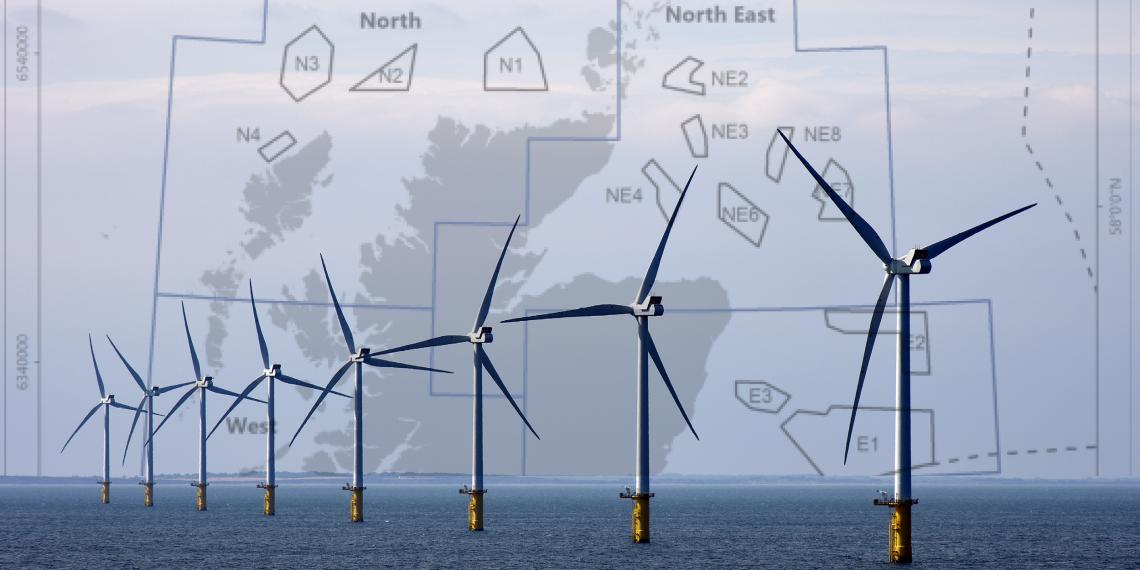 Wind farms around Scotland