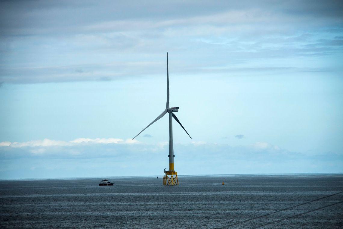 Offshore turbine at Balmedie, Aberdeenshire