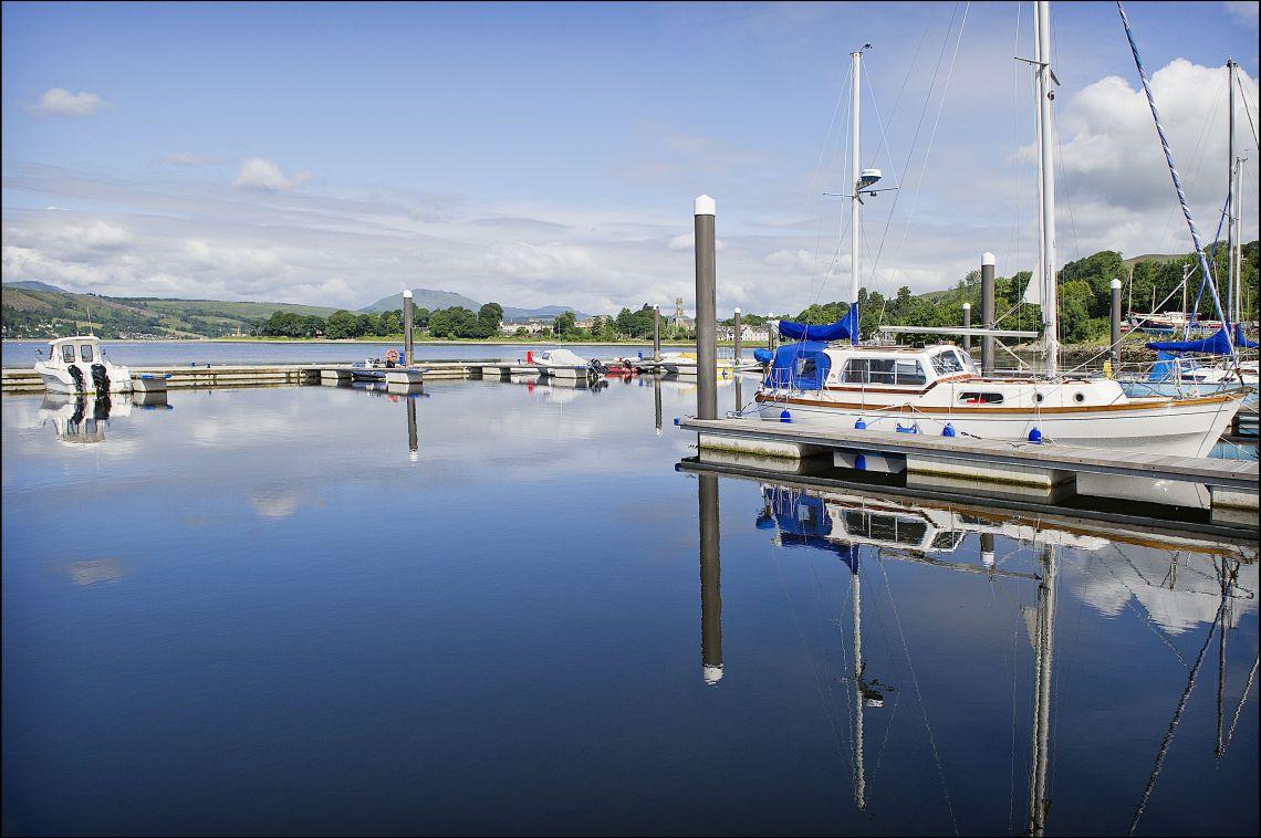 Rhu Marina boats