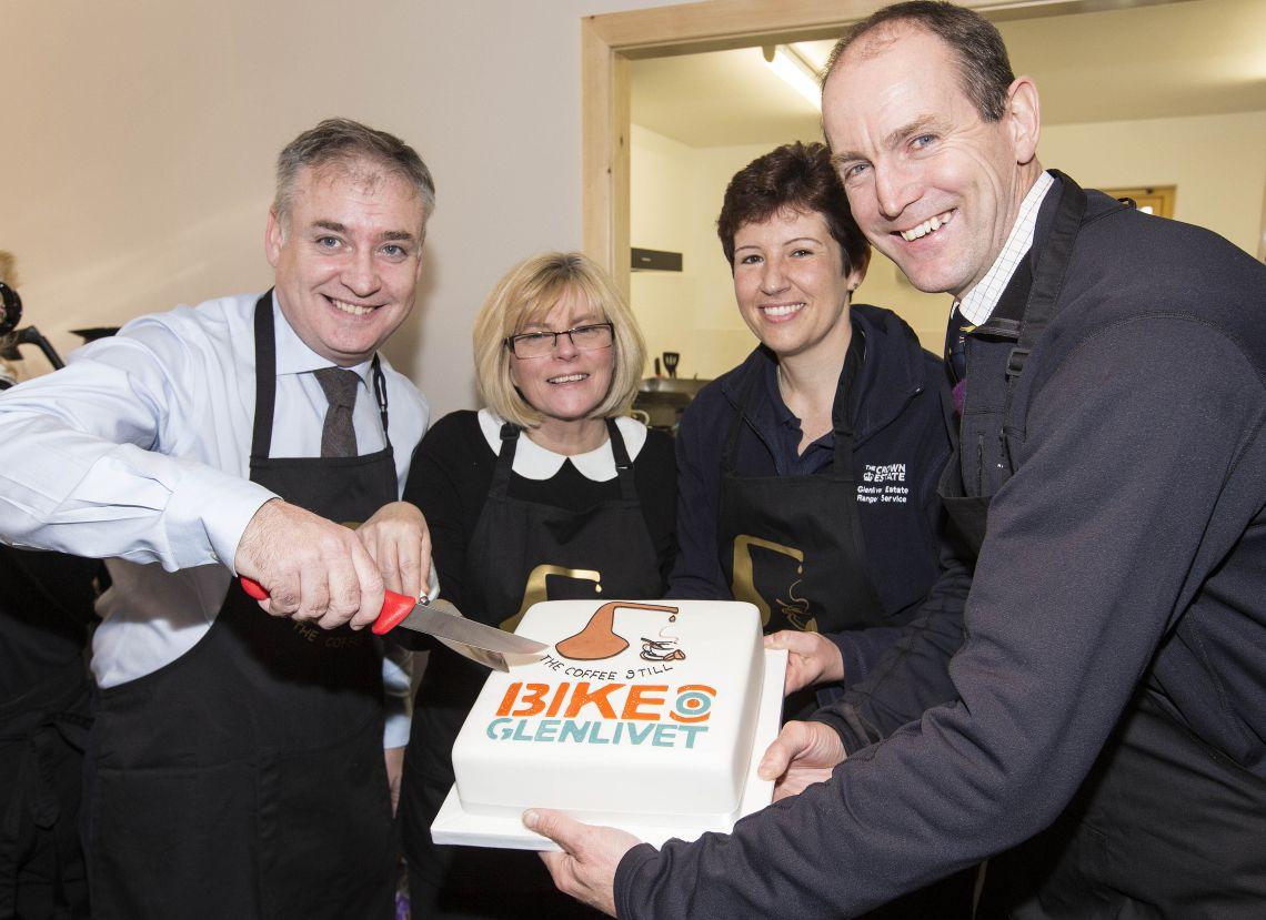 Bike Glenlivet launch with Richard Lochhead MSP 2014