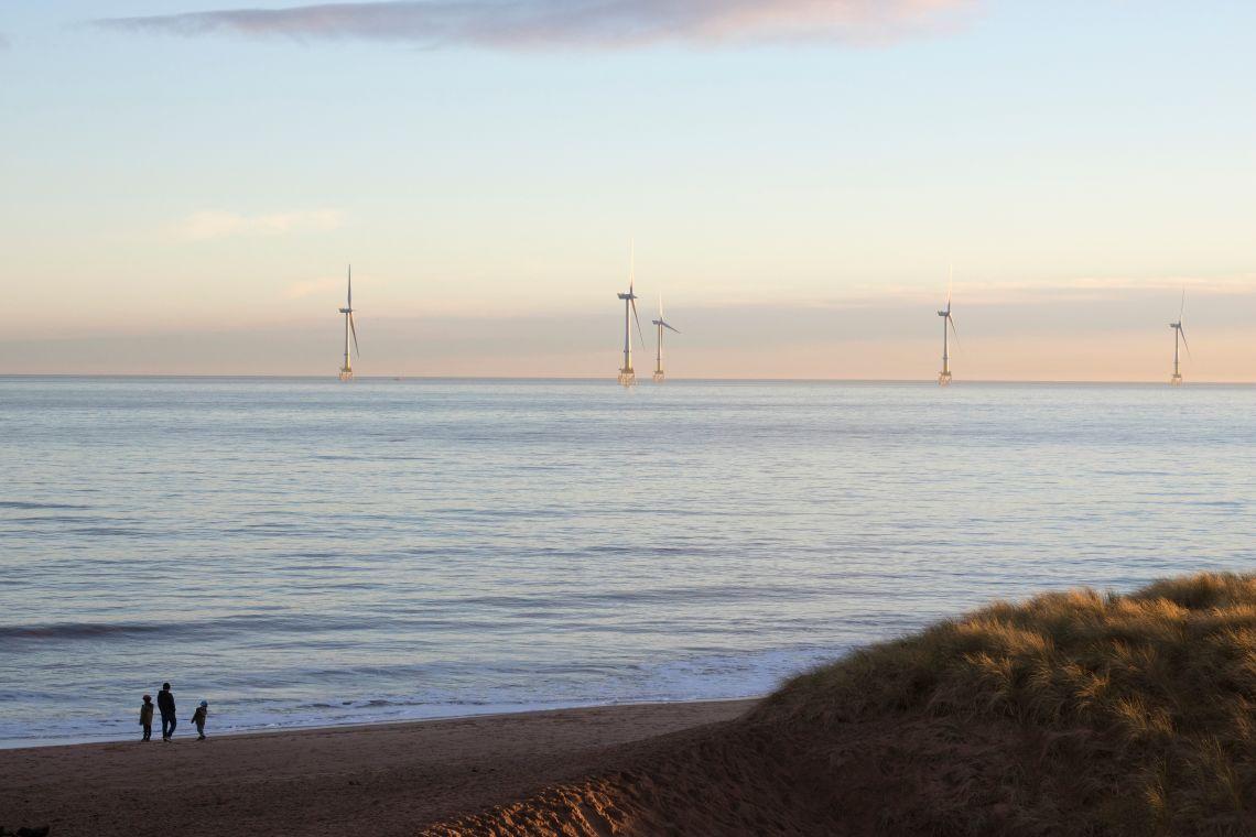 Turbines seen from Balmedie, Aberdeenshire