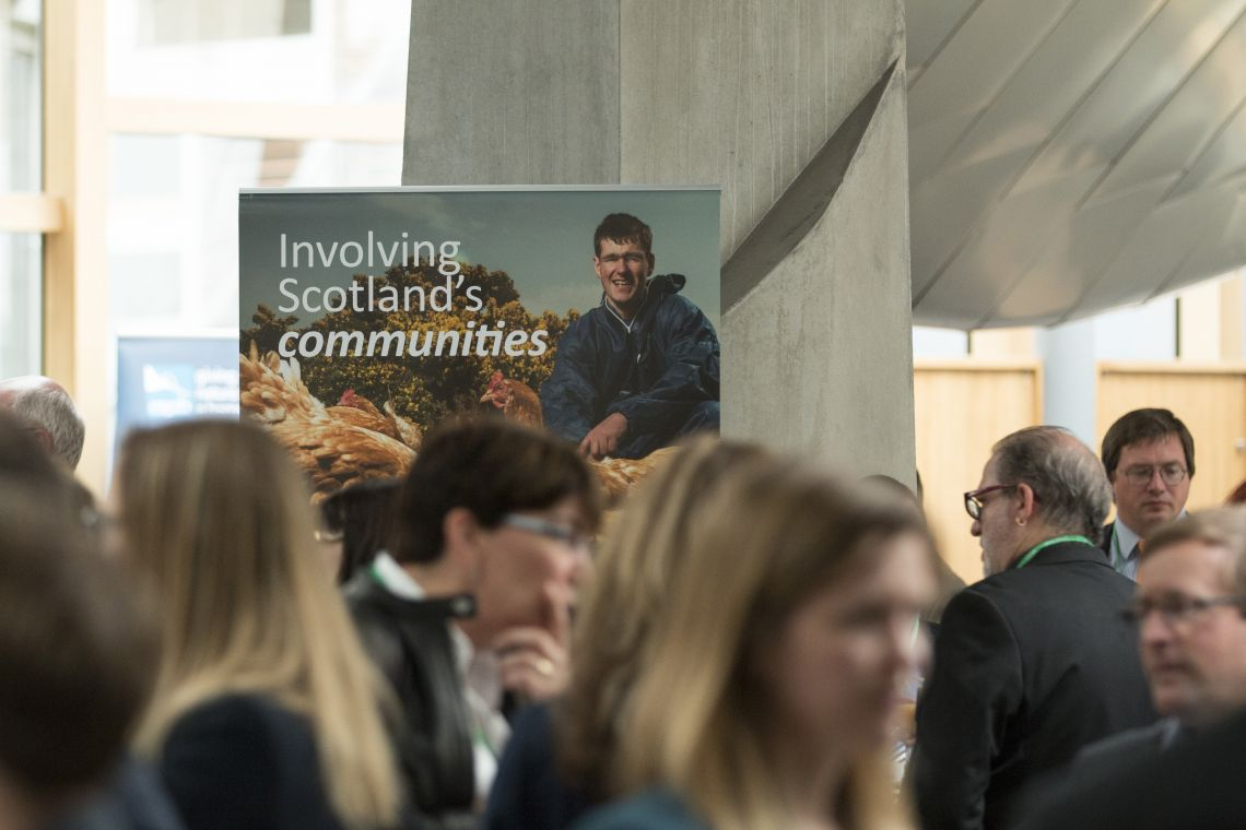 A banner spotlights Community Partnership at the Nature of Scotland Awards